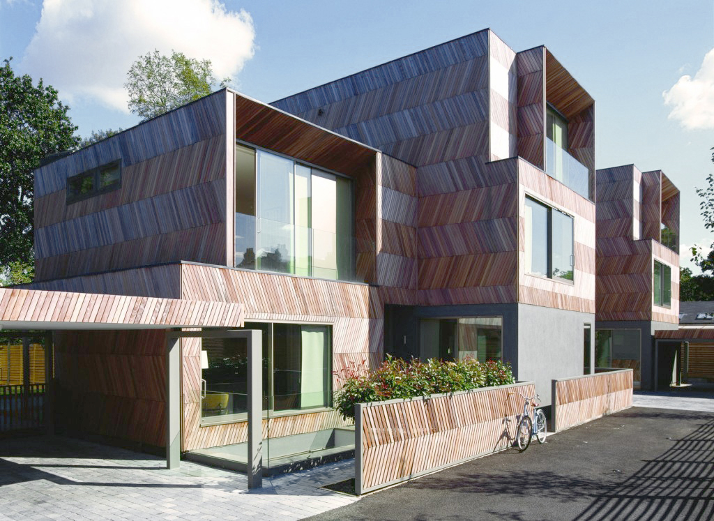 Alison Brooks Architects _ Herringbone Houses _ Photo Exterior Front 3