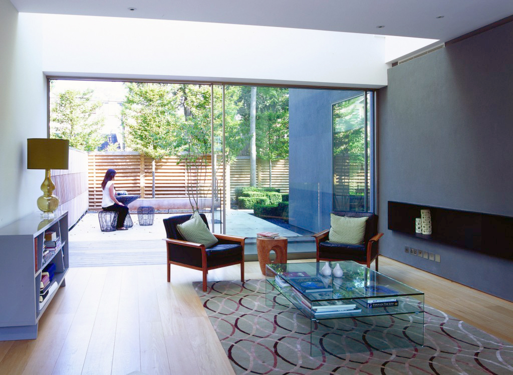 Alison Brooks Architects _ Herringbone Houses _ Photo Interior Living Room