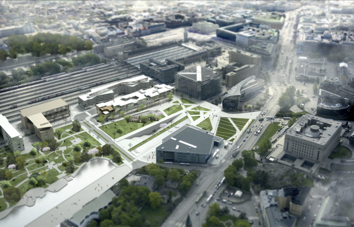 Alison Brooks Architects _ Helsinky Central Library _ Aerial View