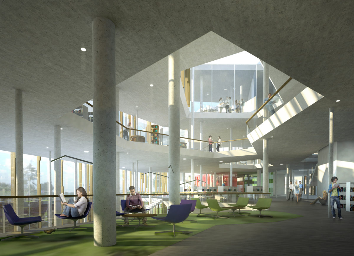 Alison Brooks Architects _ Helsinky Central Library _ Interior View 1