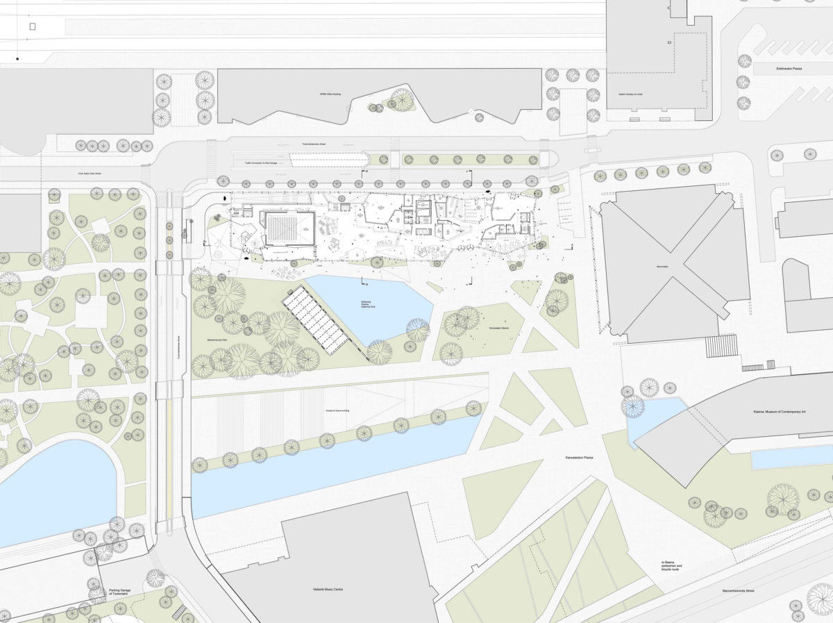 Alison Brooks Architects _ Helsinky Central Library _ Site Plan