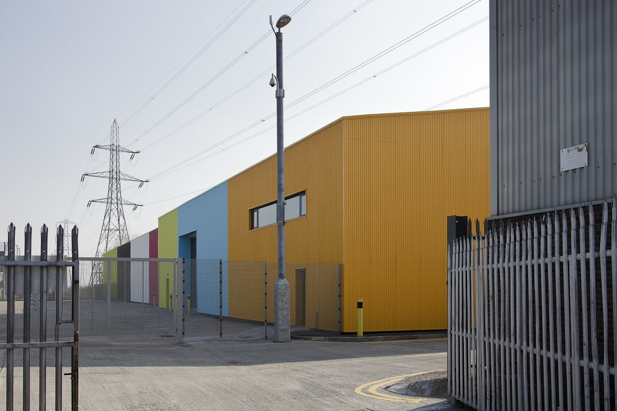 Alison Brooks Architects _ Rainham _ Wildspace Warehouse _ Station Side 3