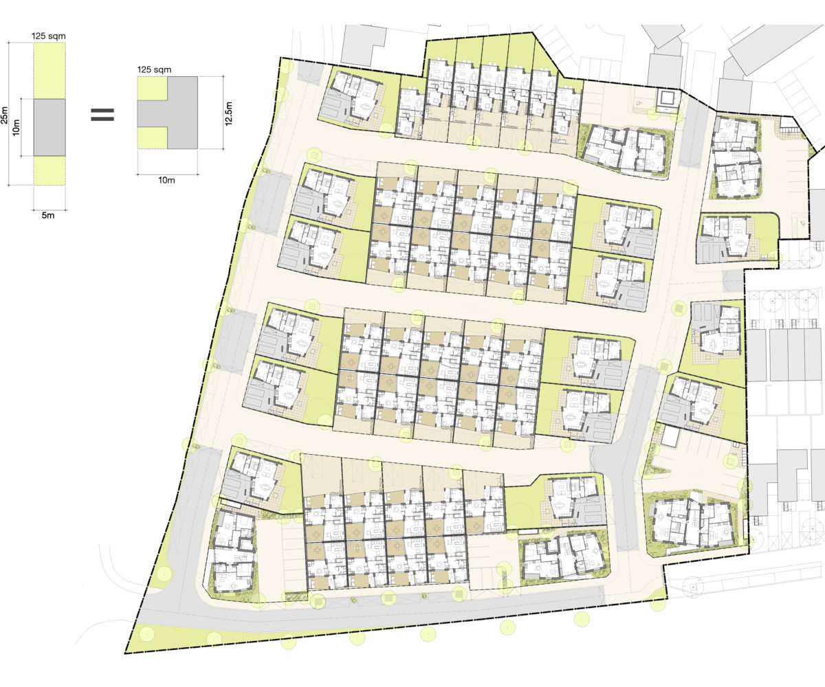 Alison Brooks Architects _ Newhall Be _ Harlow Essex _ Masterplan _ Courtyard Diagram 1