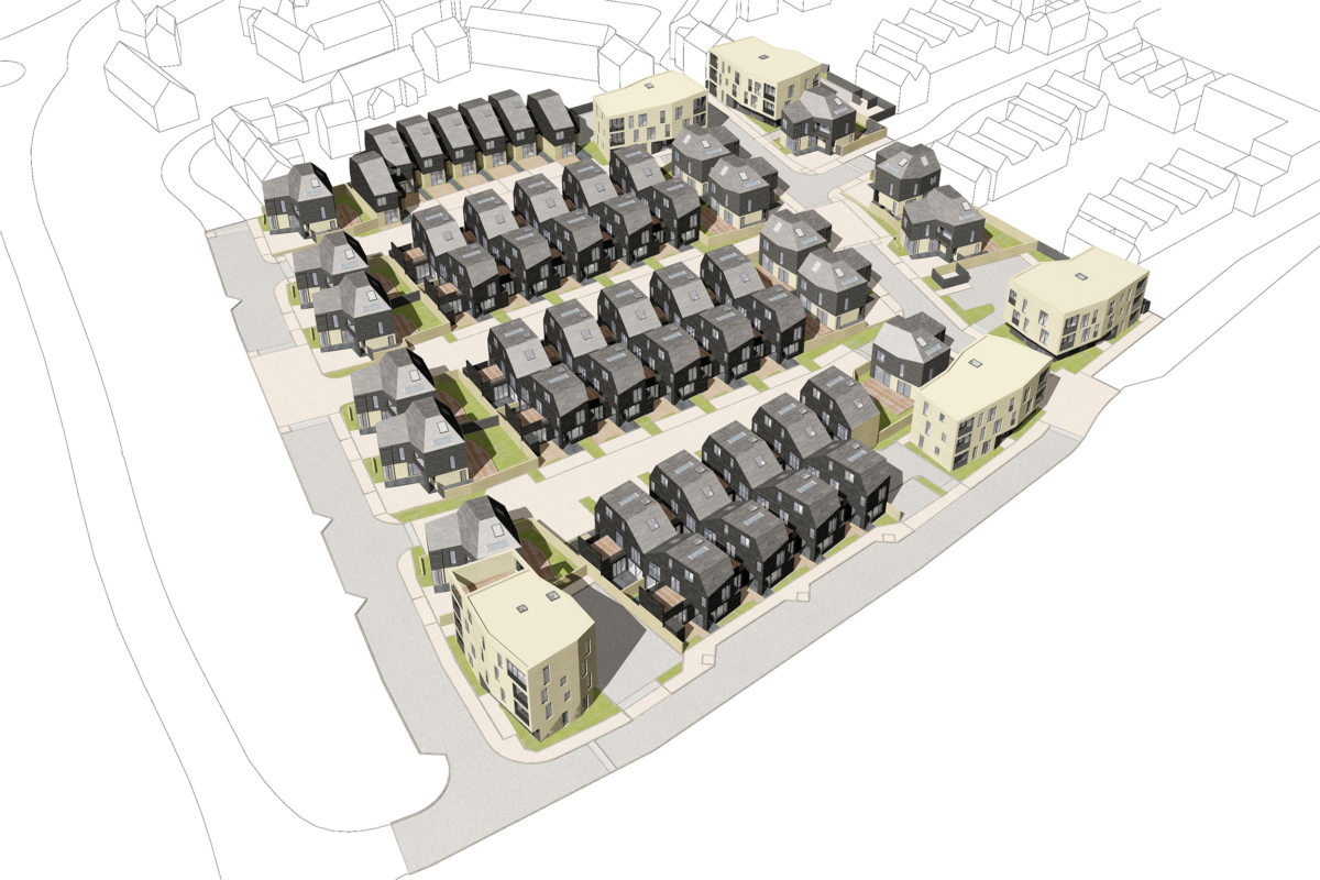 Alison Brooks Architects _ Newhall Be _ Harlow Essex _ Newhall Aerial Rendering