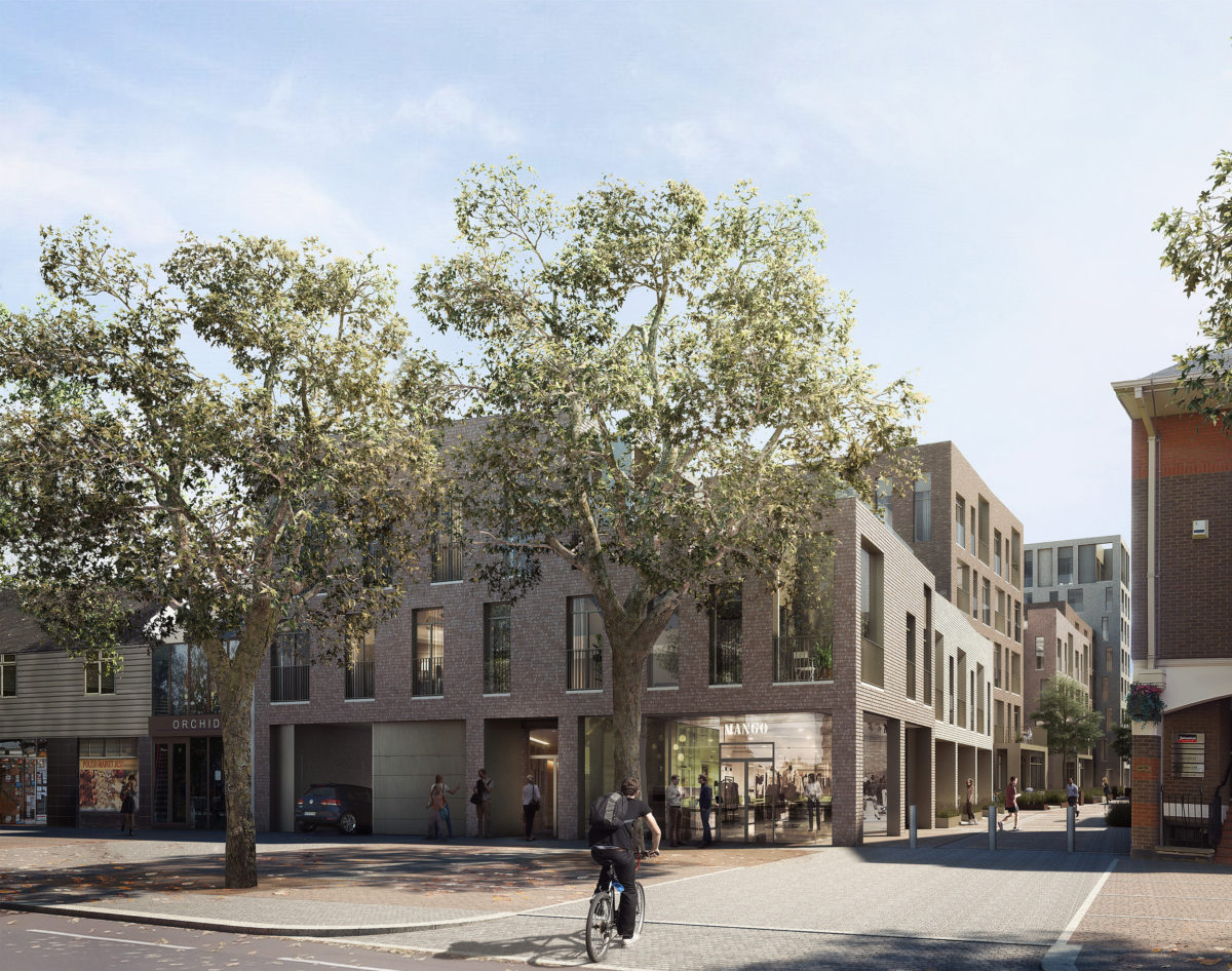 Alison Brooks Architects _ Severn Place _ Cambridge _ Access from Newmarket Road