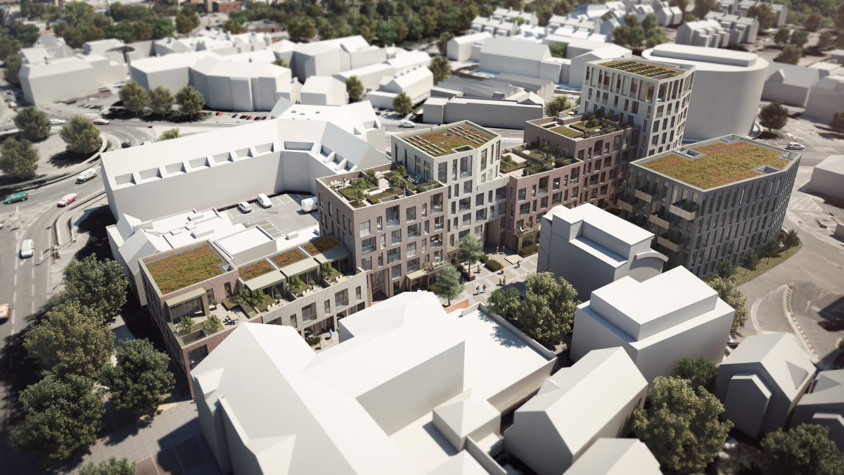 Alison Brooks Architects _ Severn Place _ Cambridge _ Aerial View