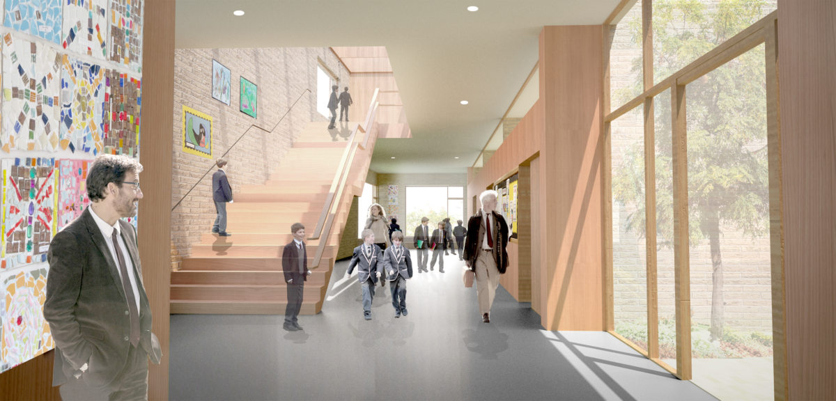 Alison Brooks Architects _ New College _ Oxford _ Rendering School Lobby