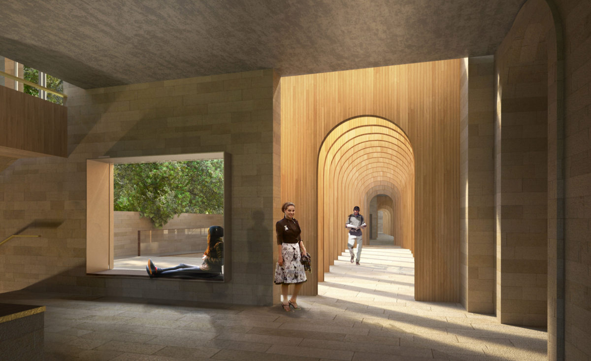 Alison Brooks Architects _ Exeter College Oxford University _ Rendering Porters Lodge 2