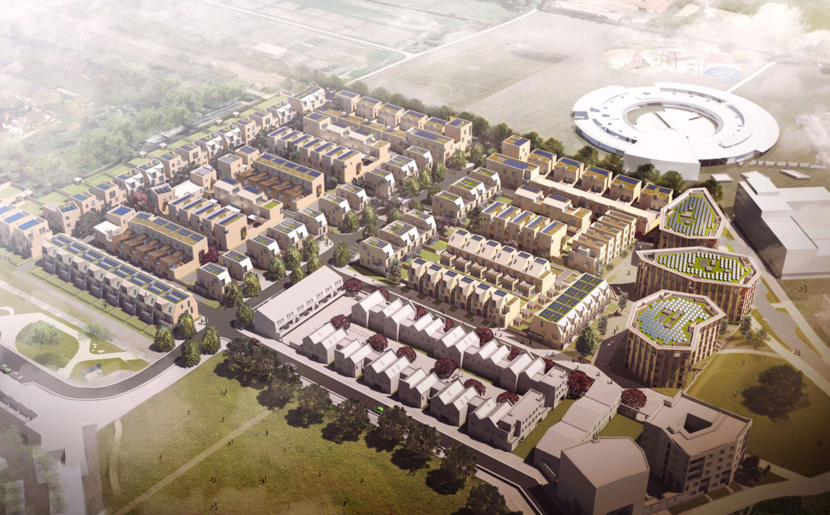 Alison Brooks Architects _ North West Cambridge Development _ Visualisation Aerial