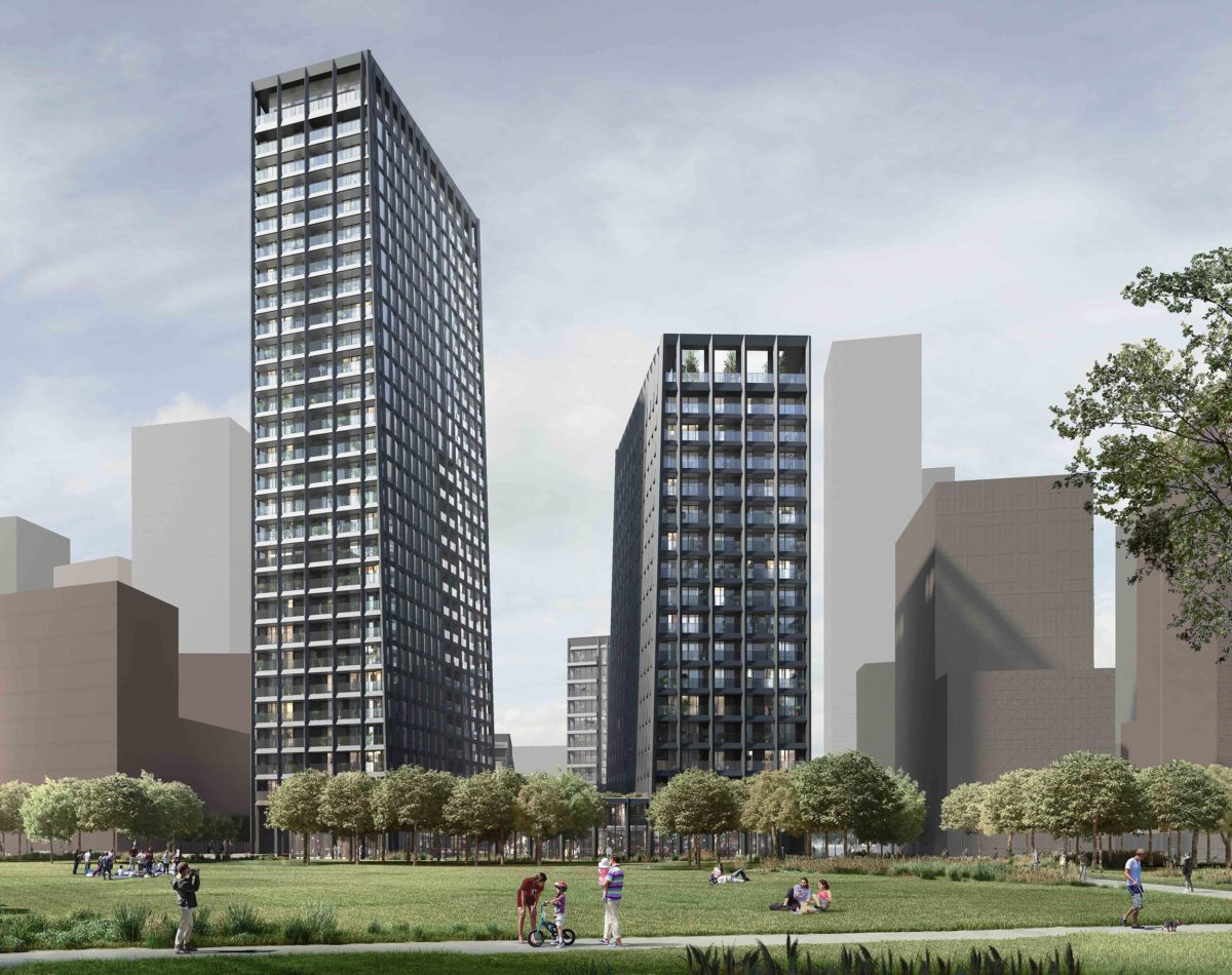Alison Brooks Architects' Greenwich Peninsula Towers receive planning