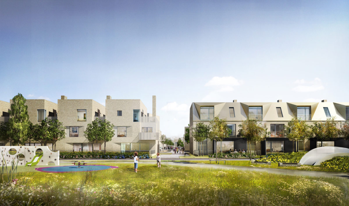 Alison Brooks Architects _ North West Cambridge Development _ Rendering Park Terrace